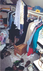This closet made it hard to get ready for the day . . .